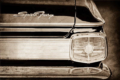 1963 Plymouth Sport Fury Taillight Emblem Poster