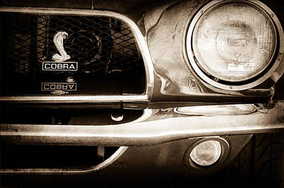 1968 Ford Mustang Fastback 427 Ci Cobra Grille Emblem Poster by Jill Reger