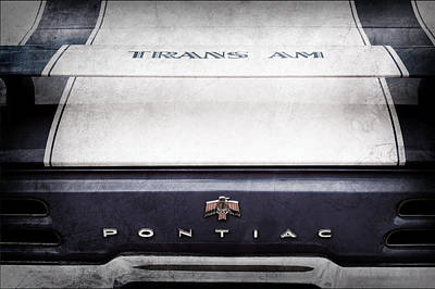 1969 Pontiac Trans Am Tail Fin Emblem Poster by Jill Reger