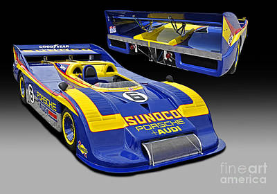 1973 Porsche 917-30 Race Car Poster by Tad Gage