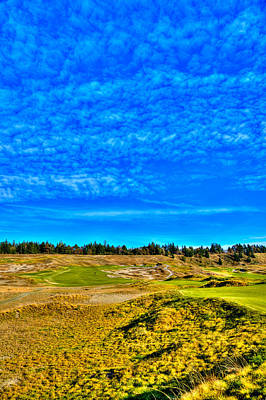 #4 At Chambers Bay Golf Course - Location Of The 2015 U.s. Open Championship Poster by David Patterson