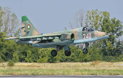 A Bulgarian Air Force Su-25 Jet Poster