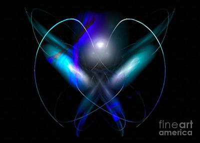 A Digital Painting Of Abstract Colouful Heart Poster