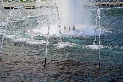 Poster featuring the photograph A World War Fountain by Cora Wandel