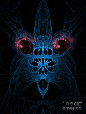 Abstract Artistic Scary Creature Poster