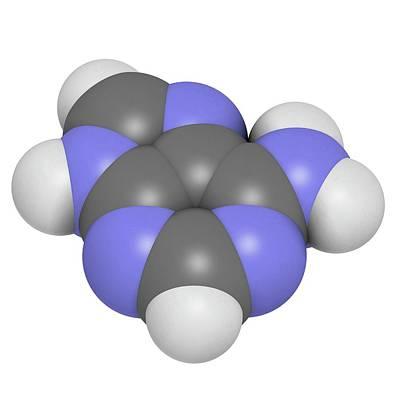 Adenine Purine Nucleobase Molecule Poster