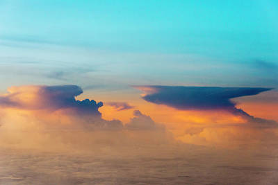 Aerial View Of Clouds, Indonesia (large Poster by Keren Su