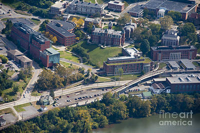 aerials of WVVU campus Poster