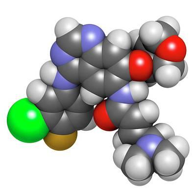 Afatinib Cancer Drug Molecule Poster