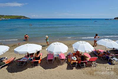 Agia Marina Beach Poster by George Atsametakis