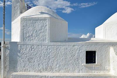 Agios Nikolaos Chapel In Aegina Port Poster by George Atsametakis