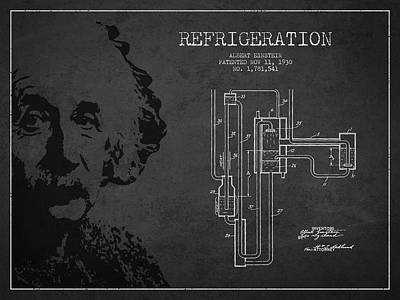 Albert Einstein Patent Drawing From 1930 Poster by Aged Pixel