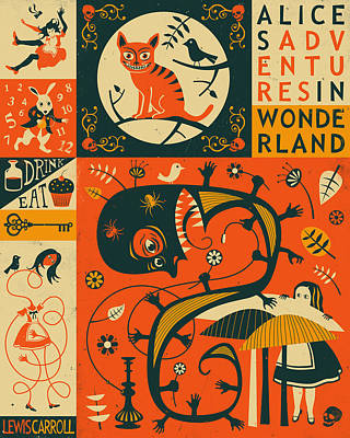 Alice In Wonderland Poster by Jazzberry Blue