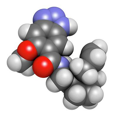 Alizapride Antiemetic Drug Molecule Poster