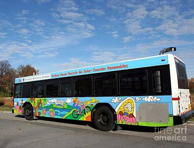 Ameren Missouri And Missouri Botanical Garden Metro Bus Poster by Genevieve Esson