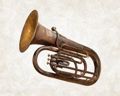 Antique Tuba  Poster by Danny Smythe