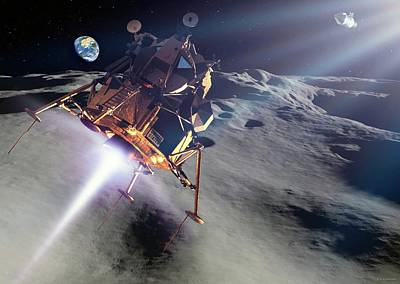 Apollo Lunar Module Poster by Detlev Van Ravenswaay