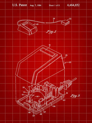 Apple Mouse Patent 1984 Poster by Stephen Younts