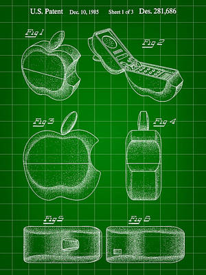Apple Phone Patent 1985 Poster