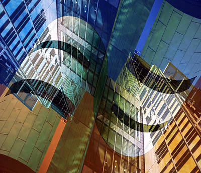Architectural Abstract Poster by Wayne Sherriff