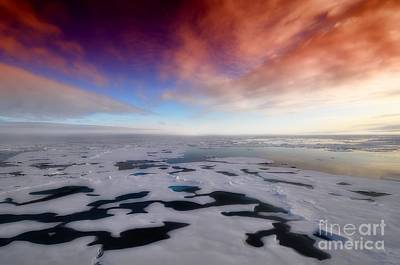 Poster featuring the photograph Arctic Sea Ocean Water Antarctica Winter Snow by Paul Fearn