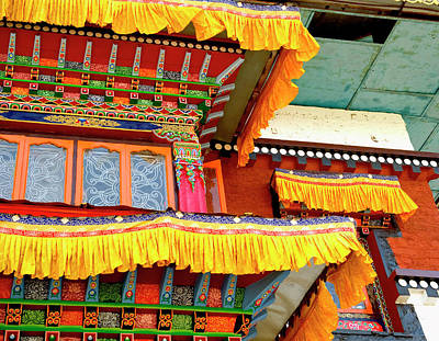 Art In Buddhist Monastery Architecture Poster