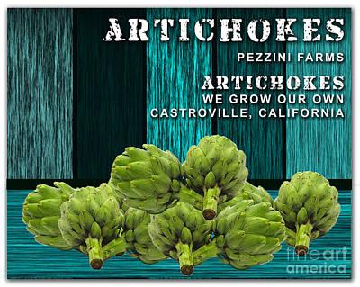 Artichokes Farm Poster