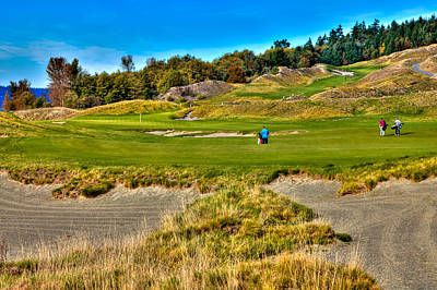 #2 At Chambers Bay Golf Course Poster by David Patterson