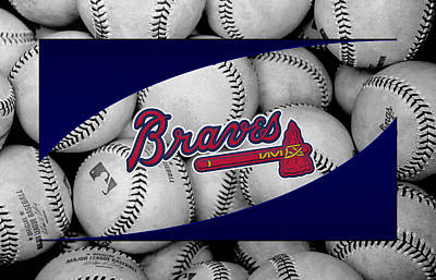 Atlanta Braves Poster by Joe Hamilton
