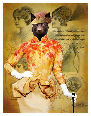 Australian Kelpie Art Canvas Print Poster by Sandra Sij