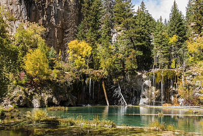 Autumn At Hanging Lake Waterfall - Glenwood Canyon Colorado Poster by Brian Harig