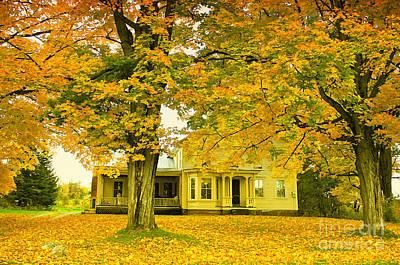 Autumn In Franklin Poster by Deborah Benoit