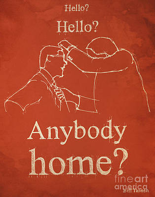 Back To The Future. Hello Hello Anybody Home... Poster by Pablo Franchi