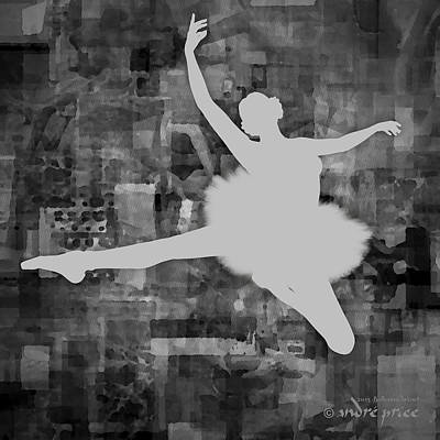 Ballerina Silhouette - Ballet Move 1 Poster by Andre Price