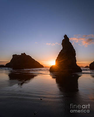 Bandon Beach Sunset Poster by Vishwanath Bhat