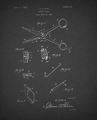 Barber Shears Patent 1927 Poster by Mountain Dreams