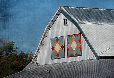 2 Barn Quilts Poster by Cassie Peters