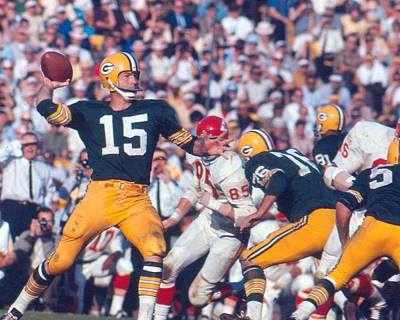 Bart Starr By Art Rickerby Poster