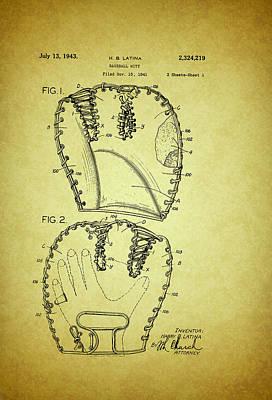 Baseball Glove Patent 1943 Poster