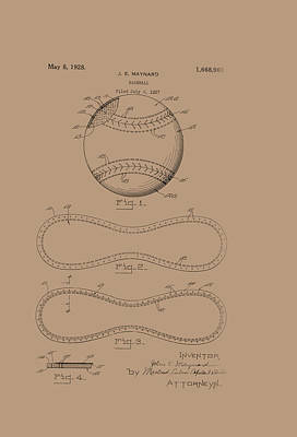 Baseball Patent 1928 Poster