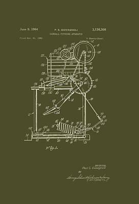 Baseball Pitching Machine Patent 1964 Poster