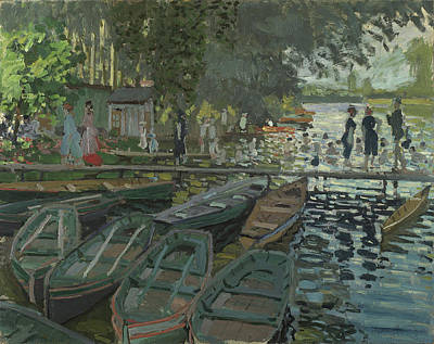 Bathers At La Grenouillere Poster by Claude Monet