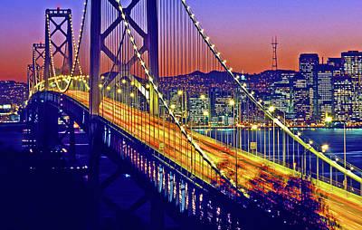 Bay Bridge At Dusk, San Francisco Poster
