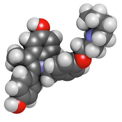 Bazedoxifene Osteoporosis Drug Molecule Poster