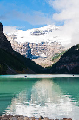 Poster featuring the photograph Beautiful Lake Louise by Cheryl Baxter