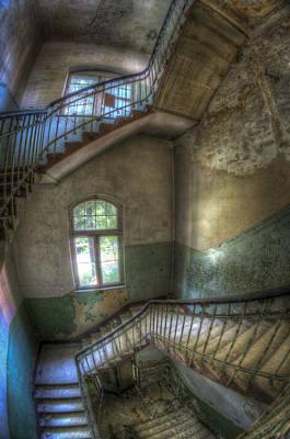 Beelitz Stairs  Poster by Nathan Wright