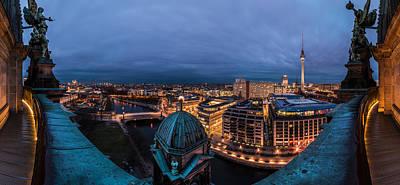 Berlin - Potsdamer Platz Blue Hour Poster by Jean Claude Castor