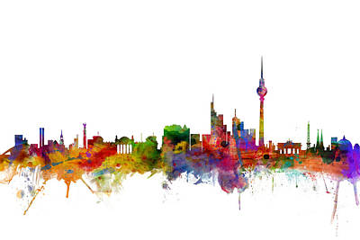 Berlin Germany Skyline Poster