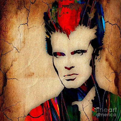 Billy Idol Collection Poster by Marvin Blaine