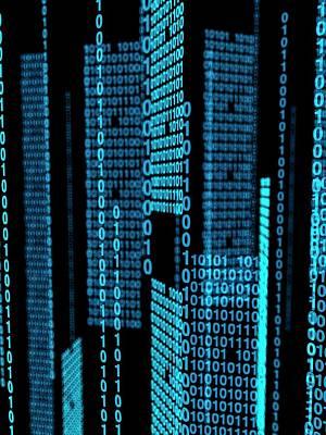 Binary Code Poster by Sebastian Kaulitzki